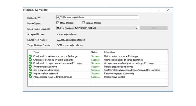 HC Efflux Migrator - Exchange Cross-forest Migration Tool